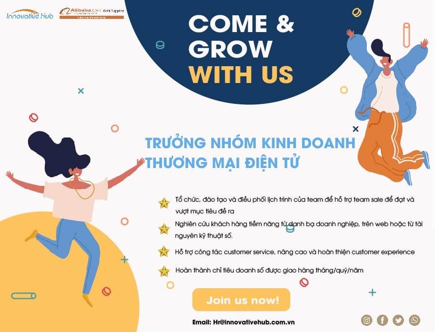 [HCM] TRƯỞNG NHÓM KINH DOANH E-COMMERCE B2B